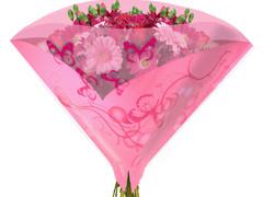 Hzn 50x50cm angelo OPP50mu Butterfly roze