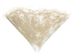 Hzn 30x30cm Impleo OPP40+Sisalrand creme / naturel