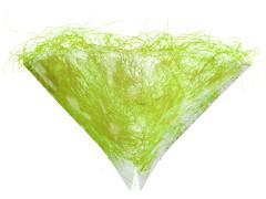 Hzn 30x30cm Impleo OPP40+Sisalrand l.groen PMS 367
