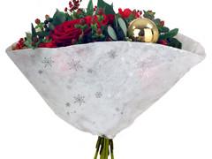 Hzn 30x30  Impleo OPP40/ zilveren sneeuwvlok