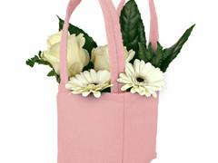 Tas Pastel vilt 12,5x11,5xH14,5cm roze