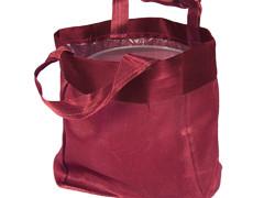 Luxe draagtasje 14/08xH14cm satin rood