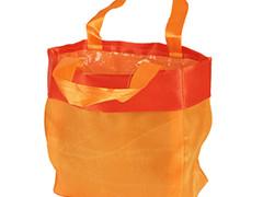 Luxe draagtasje 14/08xH14cm satin oranje