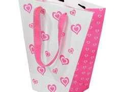 Tas Love PP 24/12x11xH26cm roze