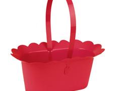 Mand Scallop plastic+ hengsel 2xES9xH10cm rood