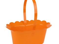 Mand Scallop plastic+ hengsel 2xES9xH10cm oranje