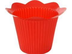 Pot Scallop plastic ES12xH11,5cm rood