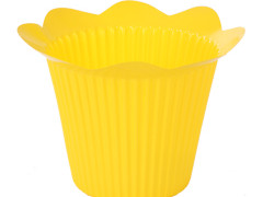 Pot Scallop plastic ES12xH11,5cm geel
