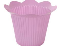 Pot Scallop plastic ES12xH11,5cm lila