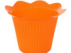 Pot Scallop plastic ES12xH11,5cm oranje
