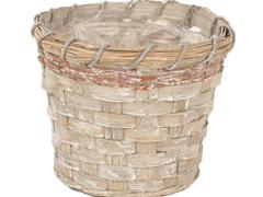 Pot Jakarta bamboe ES15xH13,5cm greywash
