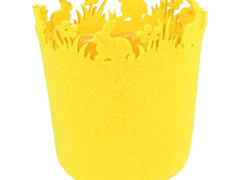 Pot Konijn vilt ES12xH14,5cm geel