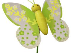 Bijsteker Lovely butterfly 7cm+50cm stok groen
