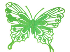 Bijsteker Vlinder baroque 8cm+50cm stok groen