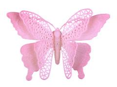 Bijsteker Vlinder jumbo 18cm+50cm stok roze