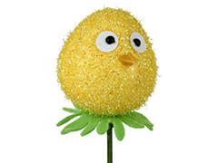 Bijsteker Funny Bird 6cm+50cm stok geel