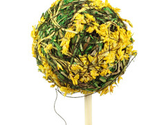 Bijsteker Lavendel bal 5cm+50cm stok geel