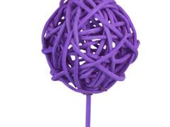 Bijsteker Bruce ball 5cm+50cm stok lila