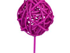 Bijsteker Bruce ball 5cm+50cm stok roze