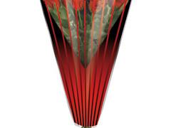 Hzn 50x35x10cm  OPP40mu Duo Lines rood / zwart