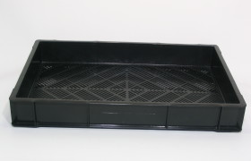 Bak 60x40x7,5 cm met raster bodem - 6mm bodemgaten
