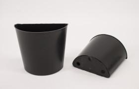 Halve pot 10cm Zwart