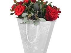 Tas Frost flower PP 19/12x11xH18cm