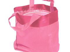 Luxe draagtasje 14/08xH14cm satin roze