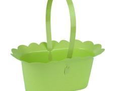 Mand Scallop plastic+ hengsel 2xES9xH10cm groen