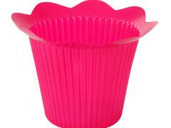 Pot Scallop plastic ES12xH11,5cm roze