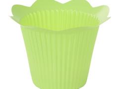 Pot Scallop plastic ES12xH11,5cm groen