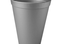 Plastic vaas basic hoog 15cmx20cm zinkkleur 2 ltr
