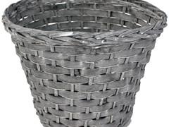 Pot Manilla wood bar/wilg ES21xH19 cm grijs