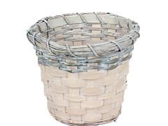 Pot Jakarta bamboe ES13xH11cm whitewash