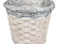 Pot Jakarta bamboe ES17xH15cm whitewash