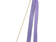 Bijsteker Lint woven 2x30cm + 50cm stok lila