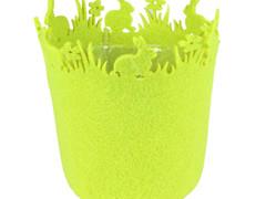 Pot Konijn vilt ES12xH14,5cm groen