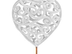 Bijsteker Heartroque 7cm+50cm stok wit