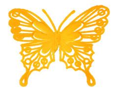 Bijsteker Vlinder baroque 8cm+50cm stok oranje