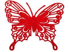 Bijsteker Vlinder baroque 8cm+50cm stok rood