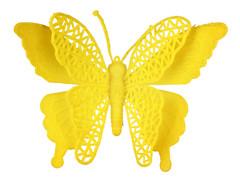 Bijsteker Vlinder jumbo 18cm+50cm stok geel