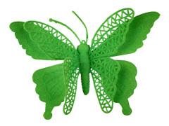 Bijsteker Vlinder jumbo 18cm+50cm stok groen
