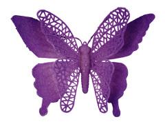 Bijsteker Vlinder jumbo 18cm+50cm stok lila