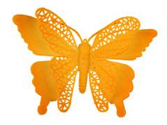 Bijsteker Vlinder jumbo 18cm+50cm stok oranje