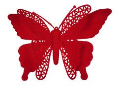 Bijsteker Vlinder jumbo 18cm+50cm stok rood