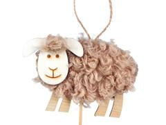 Bijsteker schaap 11cmx8cm + 50cm stok hout+fleece