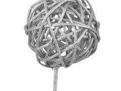 Bijsteker Bruce ball 5cm+50cm stok zilver