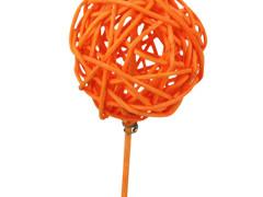 Bijsteker Bruce ball 5cm+12cm stok oranje