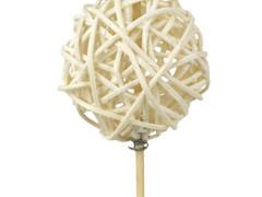 Bijsteker Bruce ball 5cm+12cm stok wit