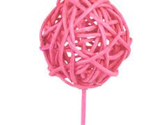Bijsteker Bruce ball 5cm+12cm stok roze